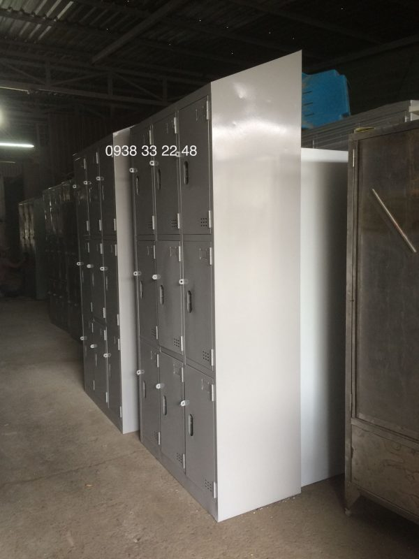 Tủ locker 9 ngăn 3 khoang