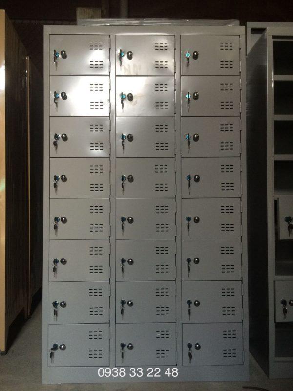 Tủ sắt locker 24 ngăn 3 khoang 24C3K