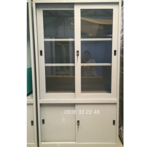 Tủ sắt đựng hồ sơ văn phòng 4 cửa lùa 2 kính TL04CK