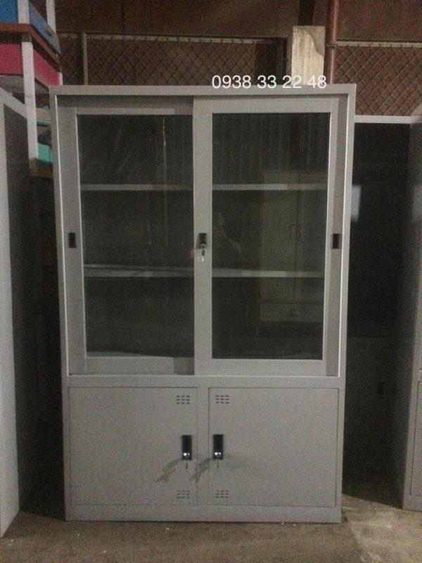 Tủ sắt đựng hồ sơ văn phòng 4 cửa 2L2M-2CLK
