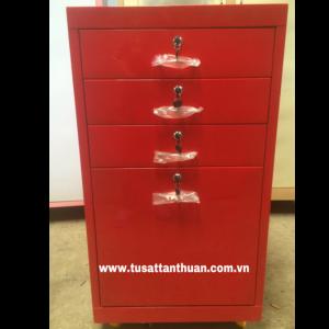 Tủ sắt nhỏ 4 ngăn kéo màu đỏ TYC4H