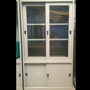 Tủ sắt đựng hồ sơ văn phòng 4 cửa lùa 2 cánh kính TL04CK