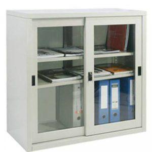 Tủ sắt đựng hồ sơ văn phòng 2 cửa lùa kính TL02CK