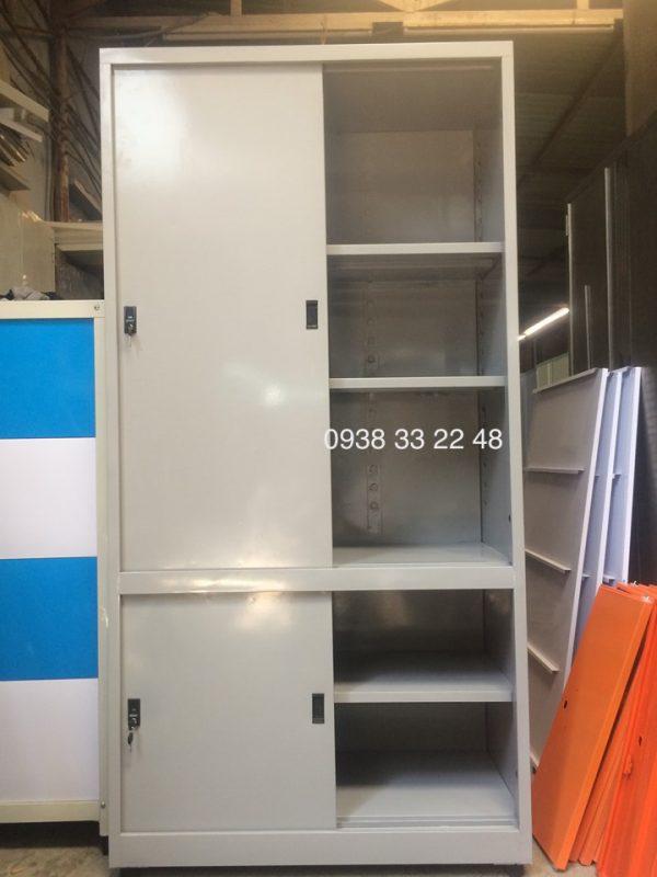 Tủ sắt đựng hồ sơ văn phòng 4 cửa lùa tole TL04T