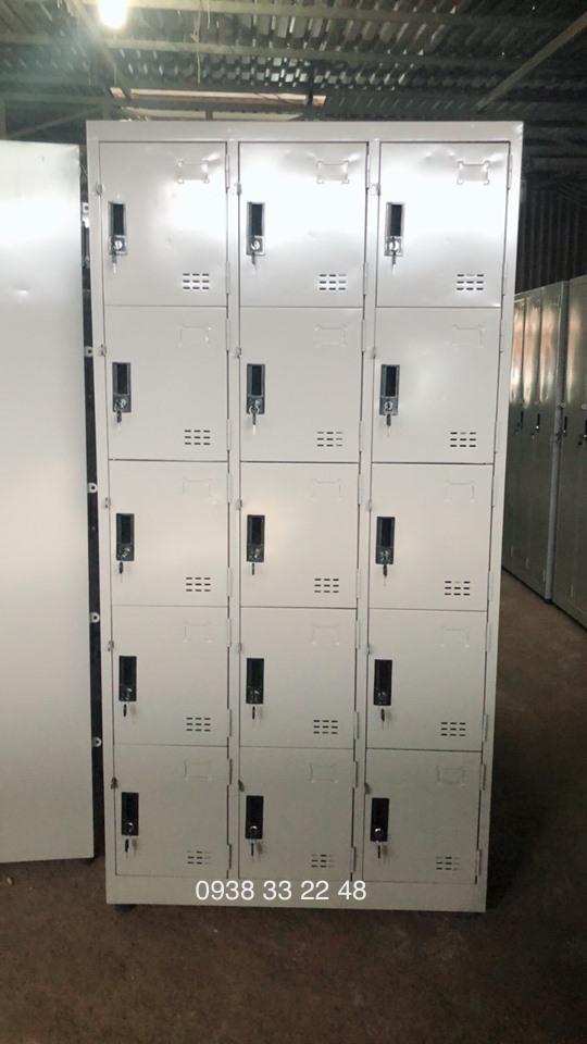 Tủ locker 15 ngăn 3 khoang 15C3K