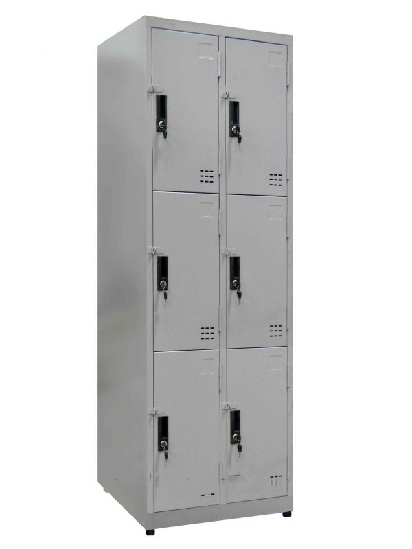 tủ locker 6 ngăn 2 khoang