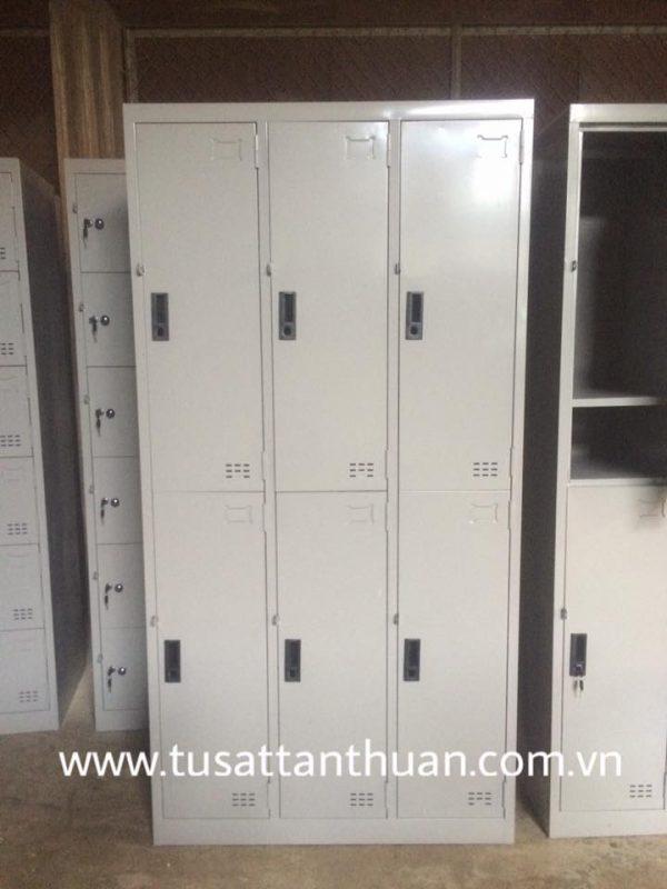 Tủ locker 6 ngăn 3 khoang