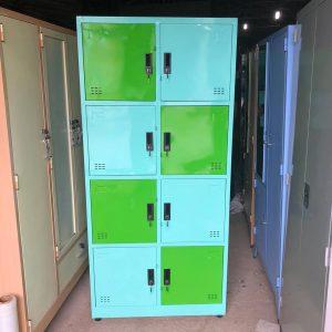Tủ locker 8 ngăn màu xanh TCN8N2K