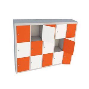 tủ locker 15 ngăn dùng trong trường học