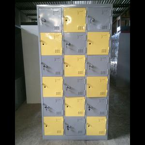 tủ locker 18 ngăn dùng trong trường học