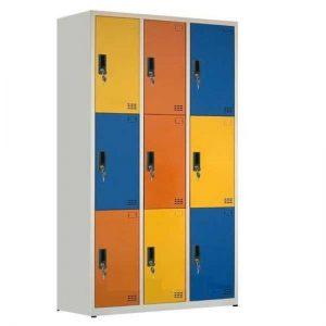 tủ locker 9 ngăn dùng trong trường học mầm non