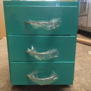 Tủ sắt mini 3 ngăn kéo màu xanh TYC01