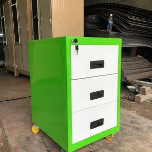 Tủ sắt mini 3 ngăn kéo màu xanh TTL3NKX