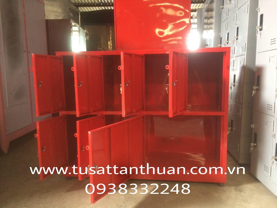 Tủ locker 7 ngăn màu đỏ TCY8C4K
