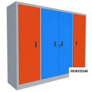 tủ locker đựng mền gối học sinh 4 khoang
