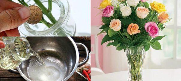 cắm hoa đúng cách giữ hoa tươi lâu trong ngày tết