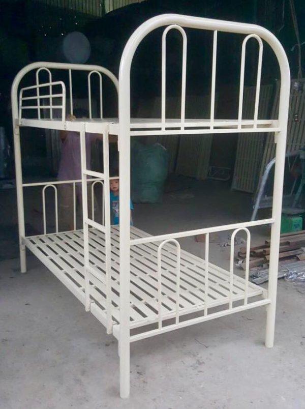 Giường sắt 2 tầng bo góc