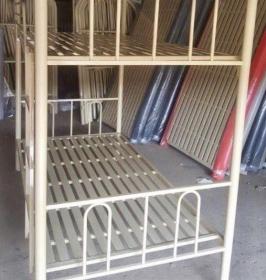 Giường sắt 2 tầng không bo góc