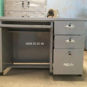 Bàn sắt văn phòng có hộc bàn phím máy vi tính B60x120-VT