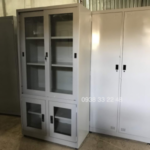 Tủ sắt đựng hồ sơ văn phòng 4 cửa kính 2L2M-4CK