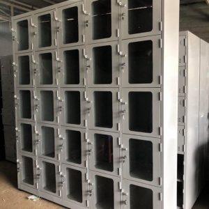 Tủ locker 25 ngăn 5 khoang cánh kính 25C5K-CK