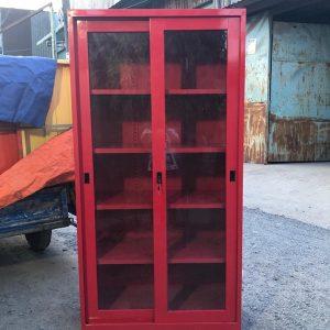 Tủ hồ sơ màu đỏ 2 cánh lùa kính 2CLKX915