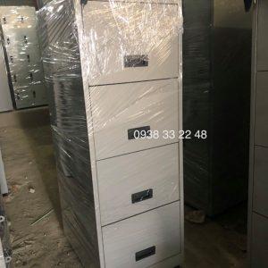 Tủ sắt mini 4 ngăn kéo khoá toàn phần TS-4NKTP
