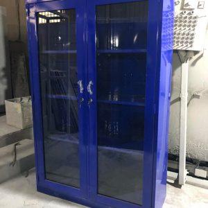 Tủ sắt hồ sơ màu xanh 2 cánh mở kính 2CMKX915
