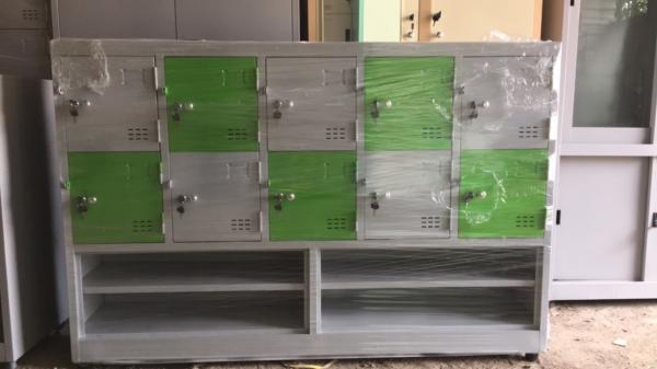 Tủ locker 10 ngăn ghép kệ giày TTH-TG1