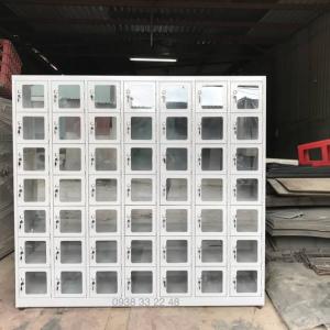 Tủ locker 49 ngăn 7 khoang cánh kính 49C7K-CK