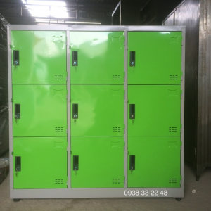 Tủ locker 9 ngăn 3 khoang xanh lá 9C3K-XL