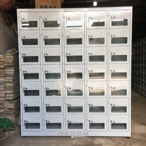 Tủ locker 35 ngăn 5 khoang cánh kính 35C5K-CK