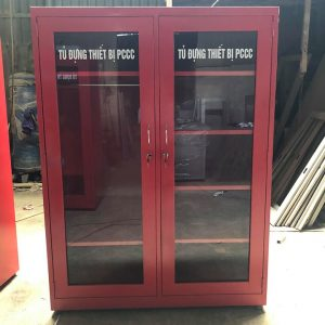 Tủ thiết bị phòng cháy màu đỏ 2 cánh mở kính 2CMK-8NTYC