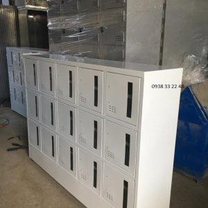 Tủ locker 15 ngăn 5 khoang cánh kính 15C5KCK-TYC